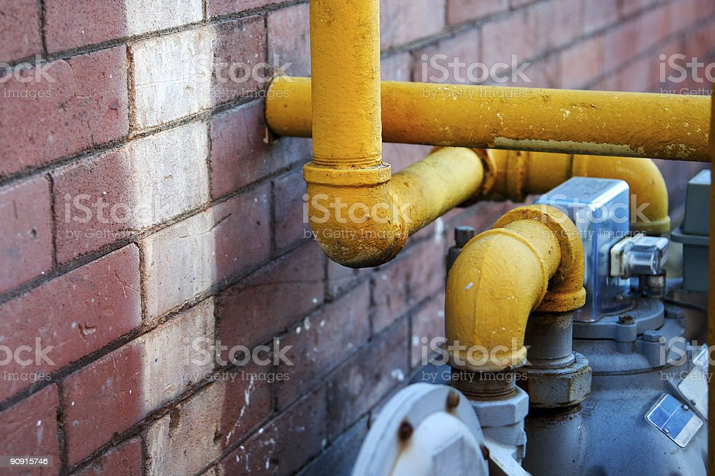 Wall and Pipe royalty-free stock photo