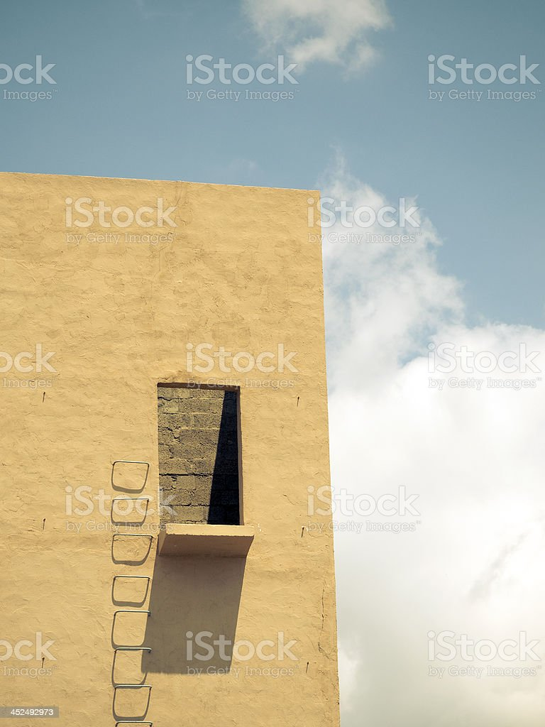 wall and sky stock photo