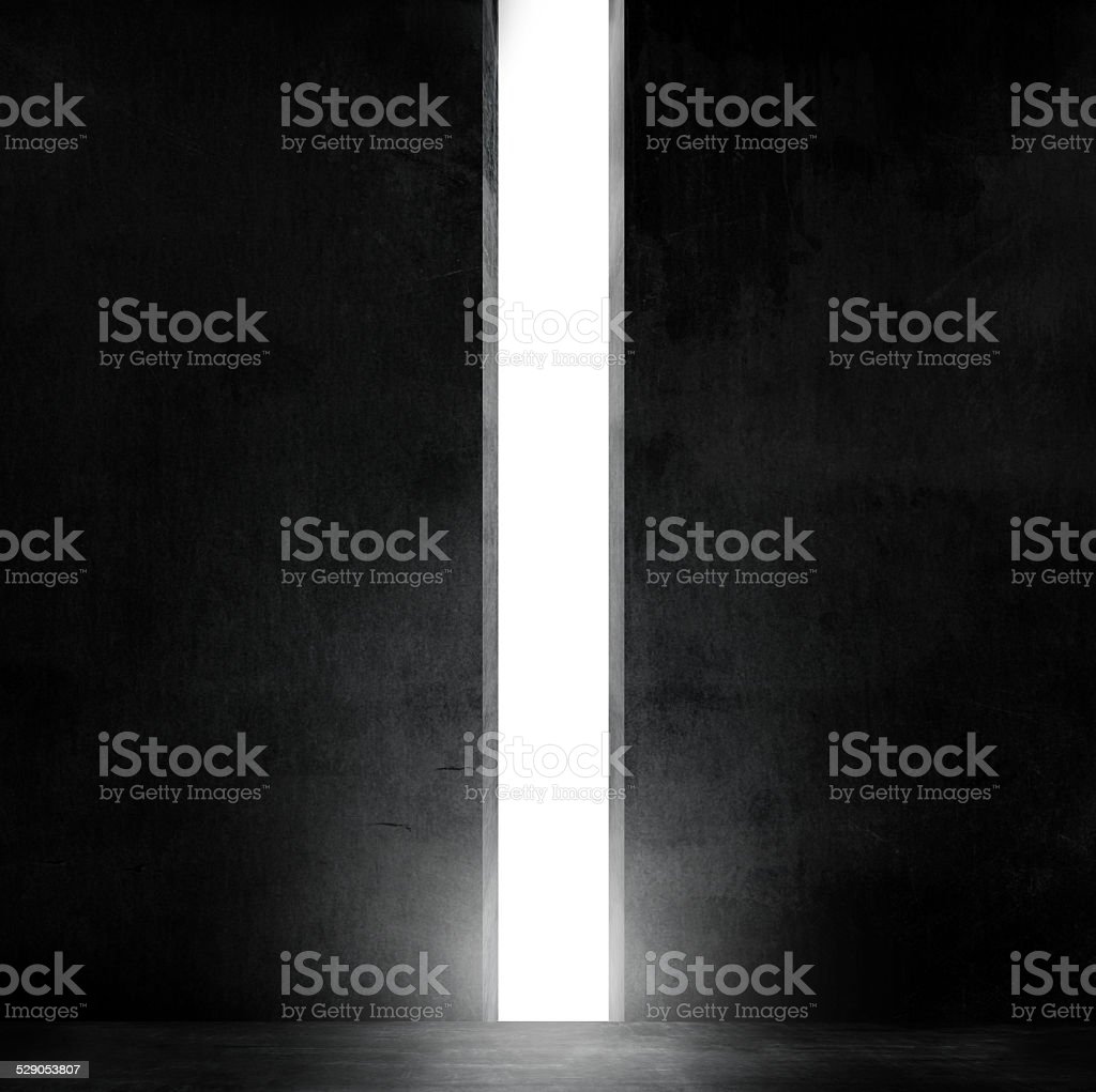 wall and walkway with stairs, passage of light shine stock photo
