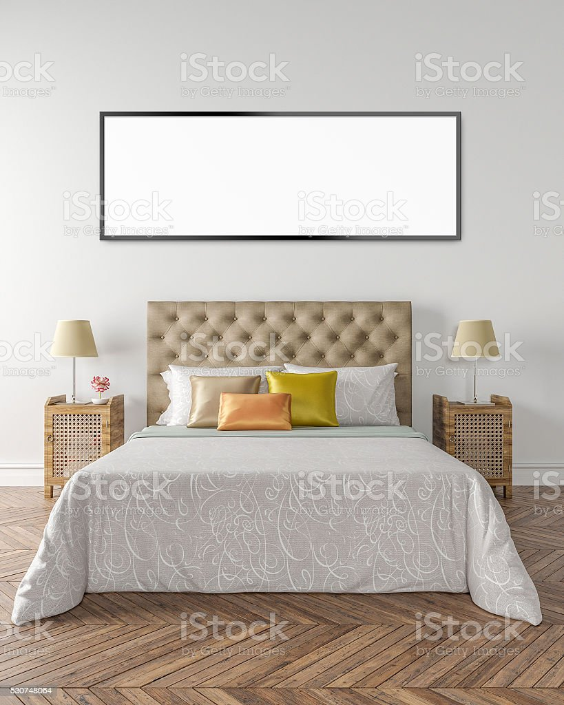 Wall art background, 3D illustration stock photo