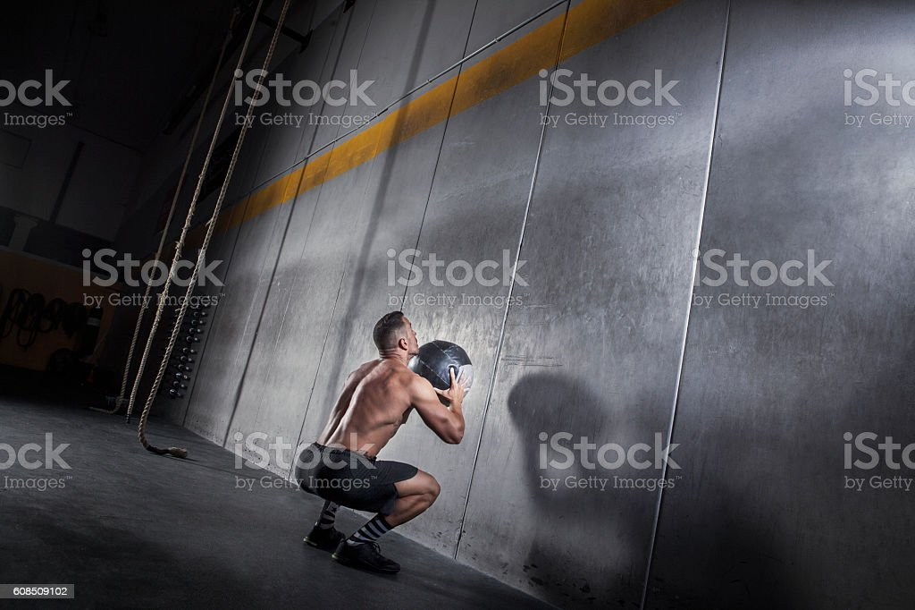 wall ball stock photo