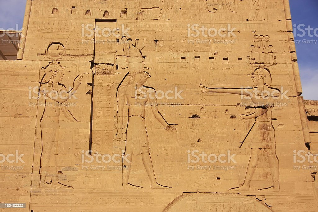 Wall carving, Philae Temple, Lake Nasser stock photo
