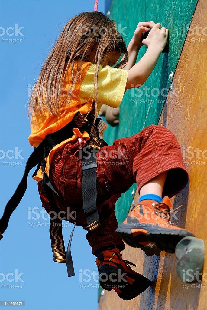 Wall climbing royalty-free stock photo