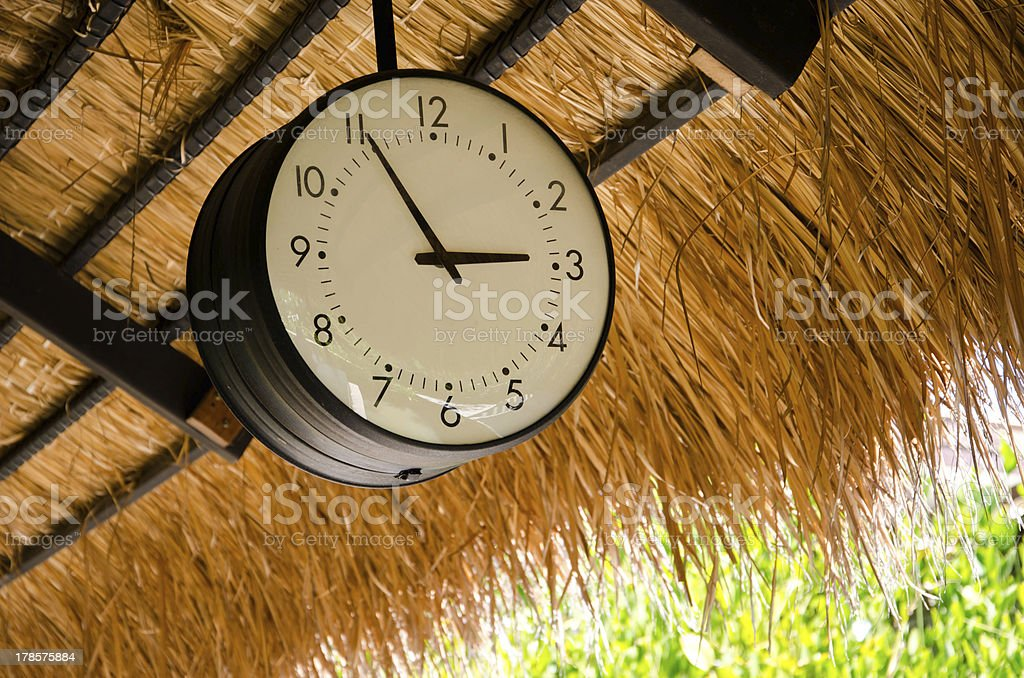 Wall clock black royalty-free stock photo