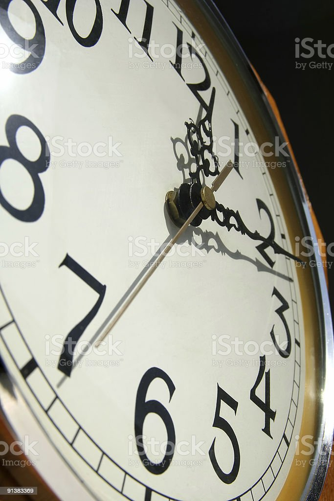 Wall Clock from Below stock photo