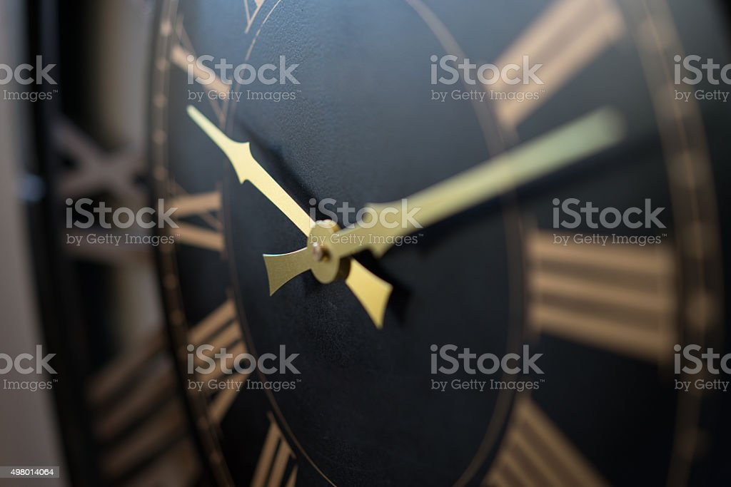 wall clock macro stock photo