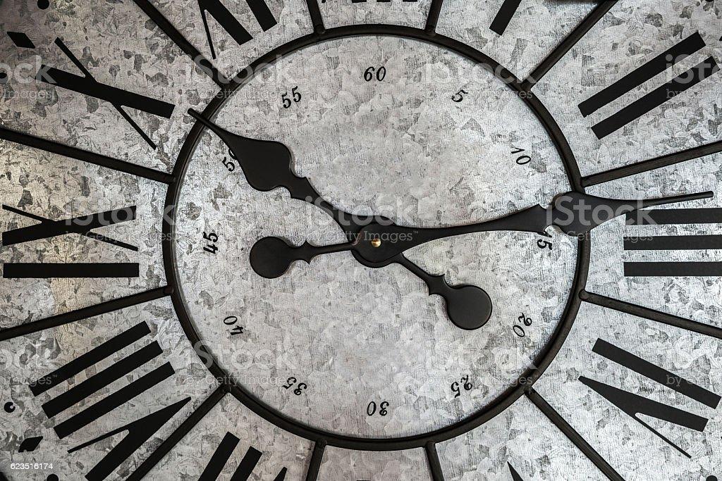 wall clock macro stock photo