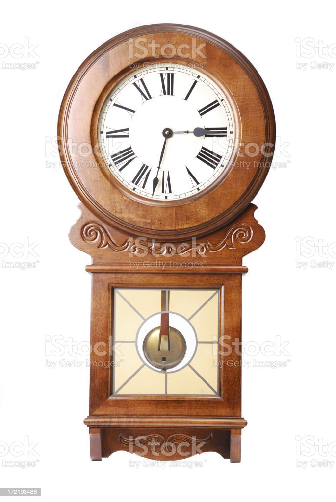 Wall clock royalty-free stock photo