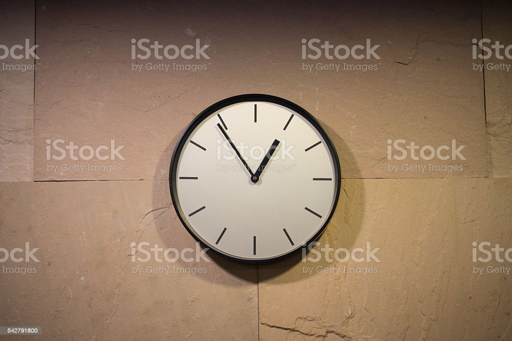 Wall Clock (13:00 pm-1) stock photo