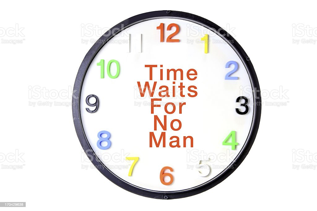 Wall Clock with Message royalty-free stock photo