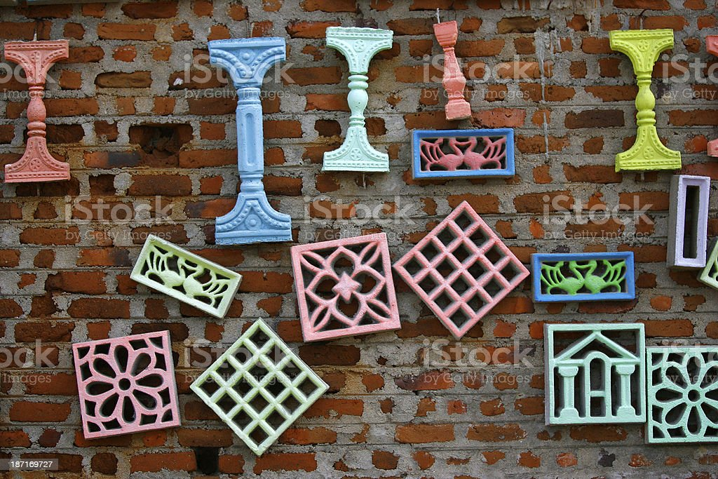 Wall decorations stock photo