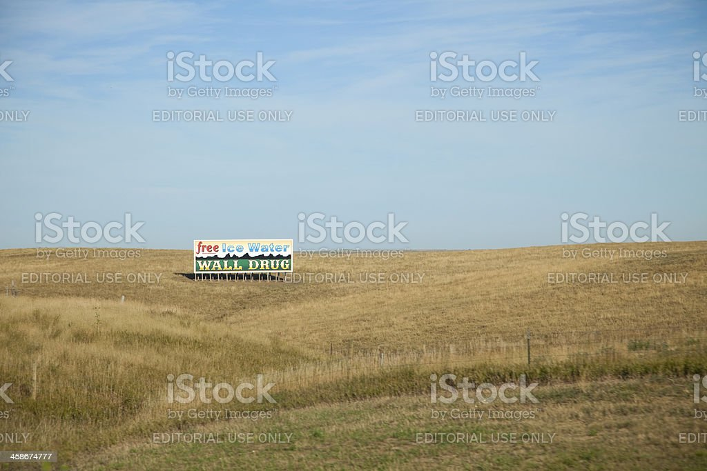 Wall Drug Billboard in South Dakota royalty-free stock photo