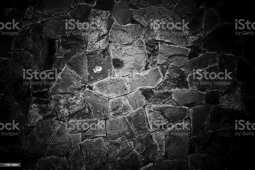 wall facing a stone stock photo