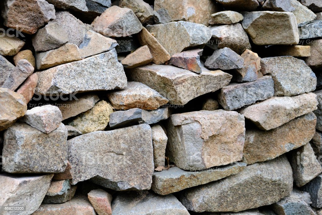 Wall from a stone. stock photo