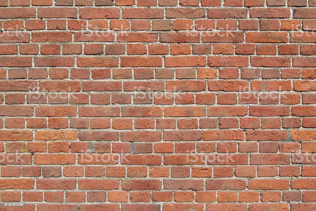Wall from bricks. stock photo