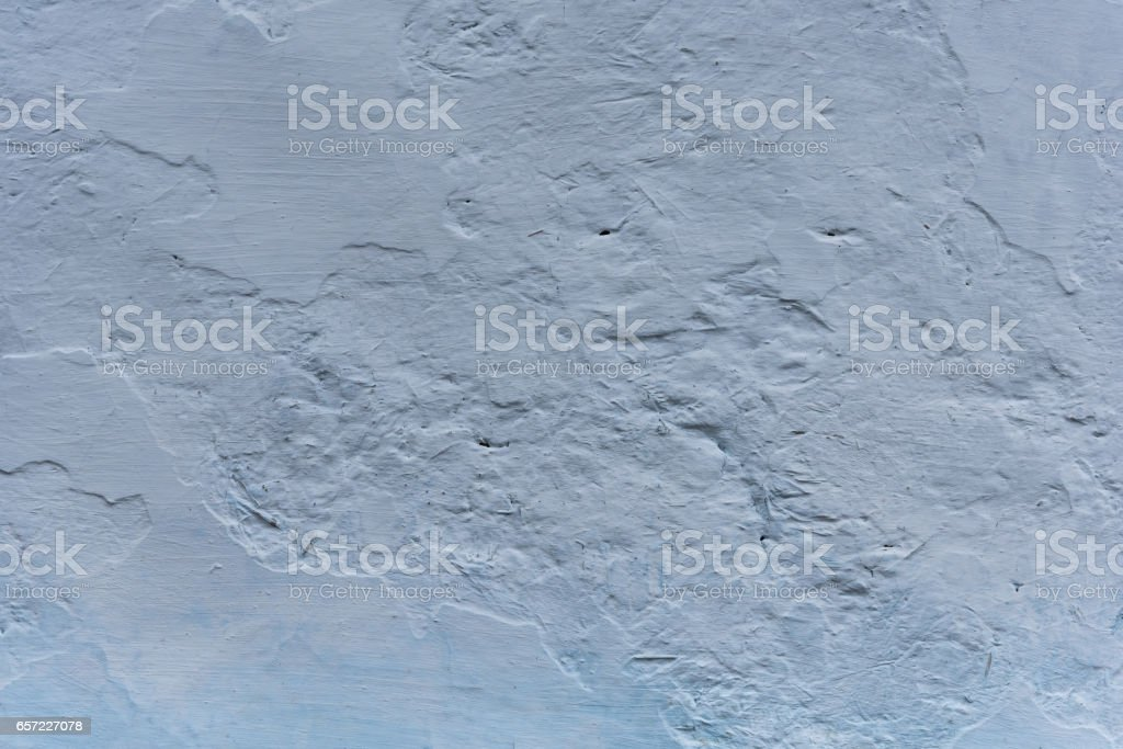 Wall from clay whitewashed with lime, textured background stock photo