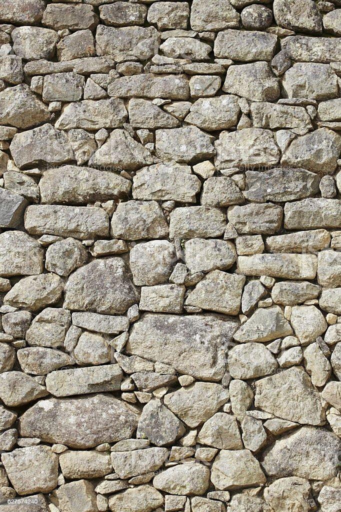 Wall from the Inca era stock photo