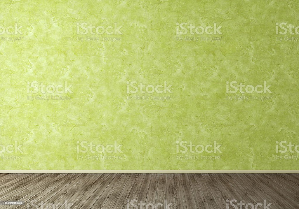 Wall Green Stucco Background stock photo