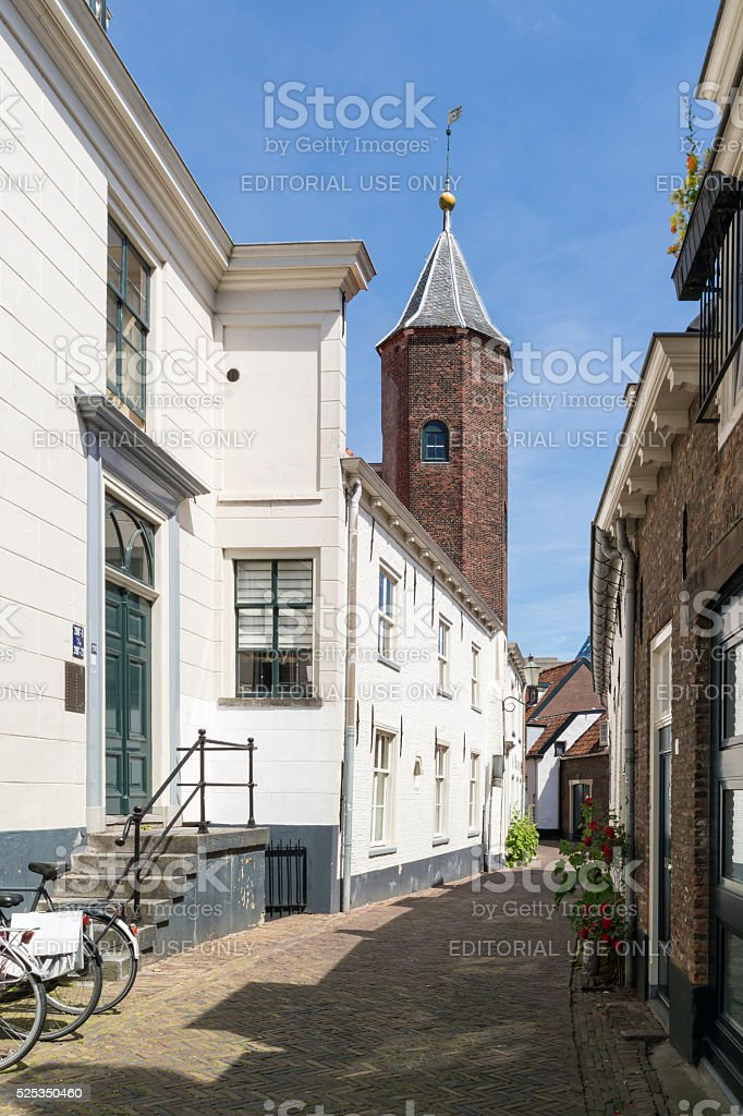 Wall houses in Amersfoort, Netherlands stock photo