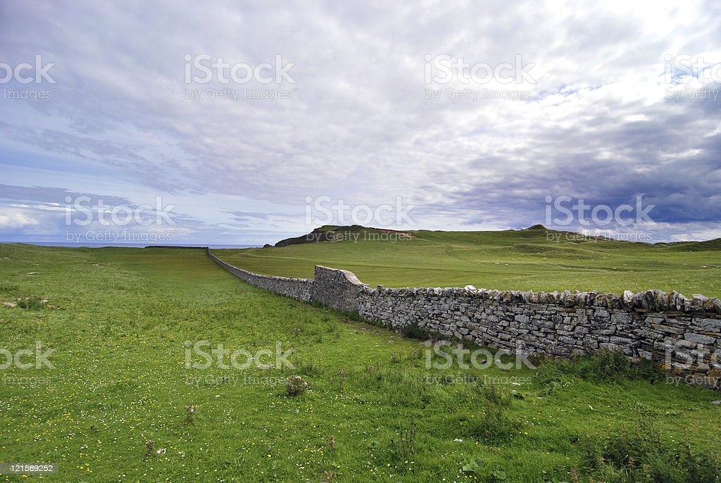 Wall in Durness, Scotland royalty-free stock photo