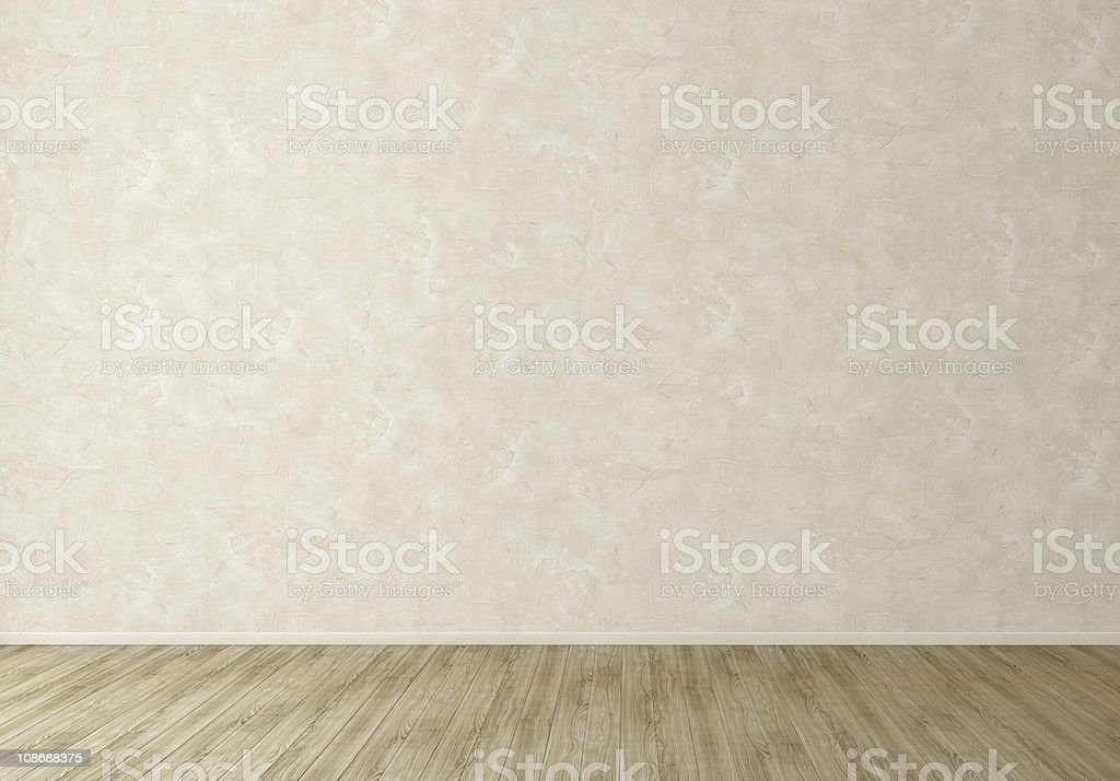 Wall in Empty Living Room - Texstured Stucco royalty-free stock photo