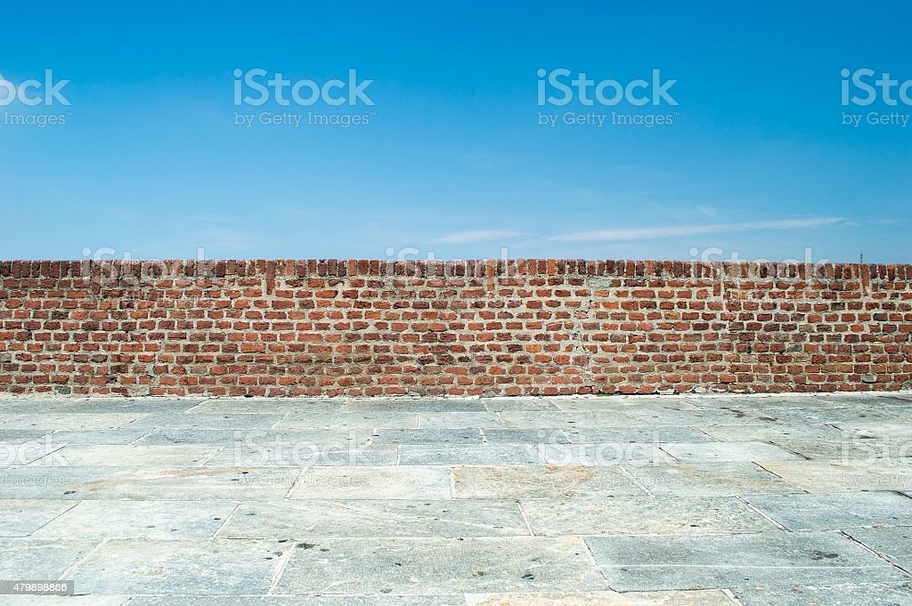 wall in front of sky stock photo