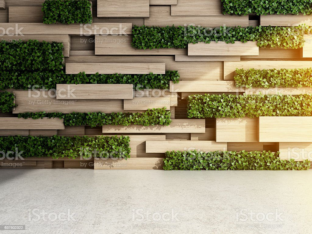 Wall in modern interior stock photo