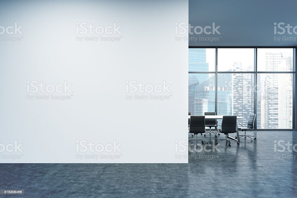 Wall in office, window stock photo