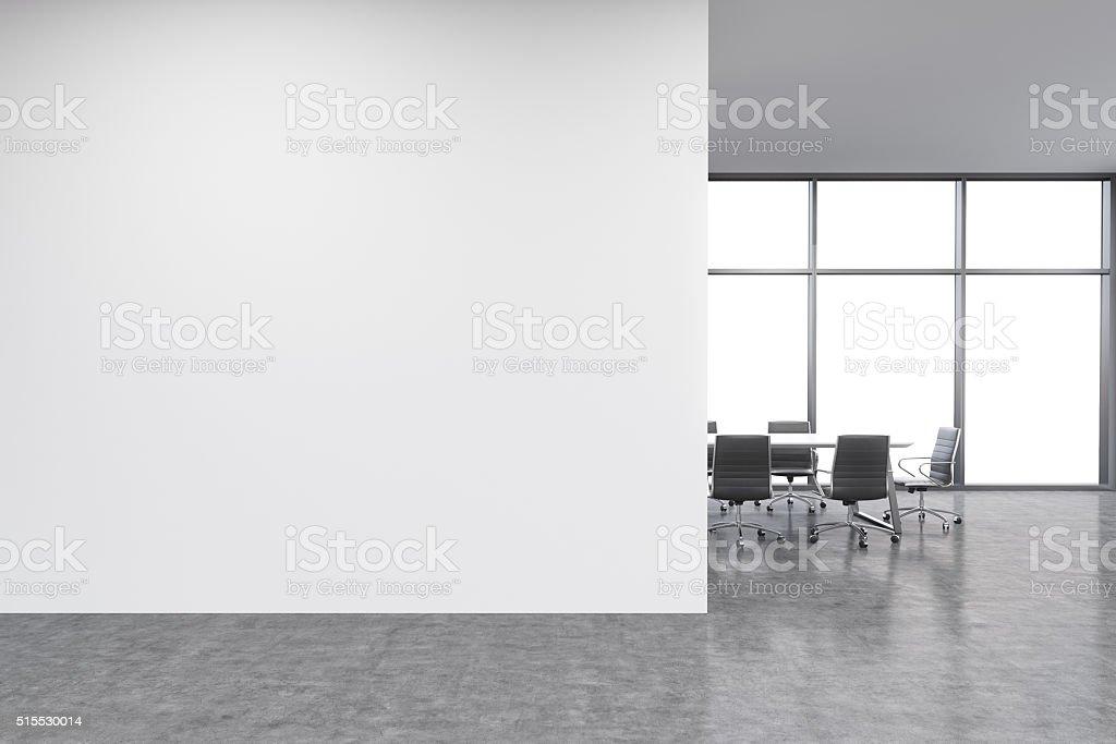 Wall in office, window stock photo