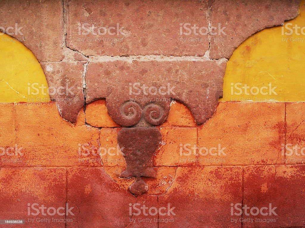 Wall in San Miguel, Mexico royalty-free stock photo