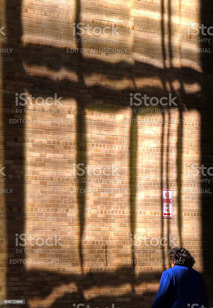 Wall in shadows stock photo