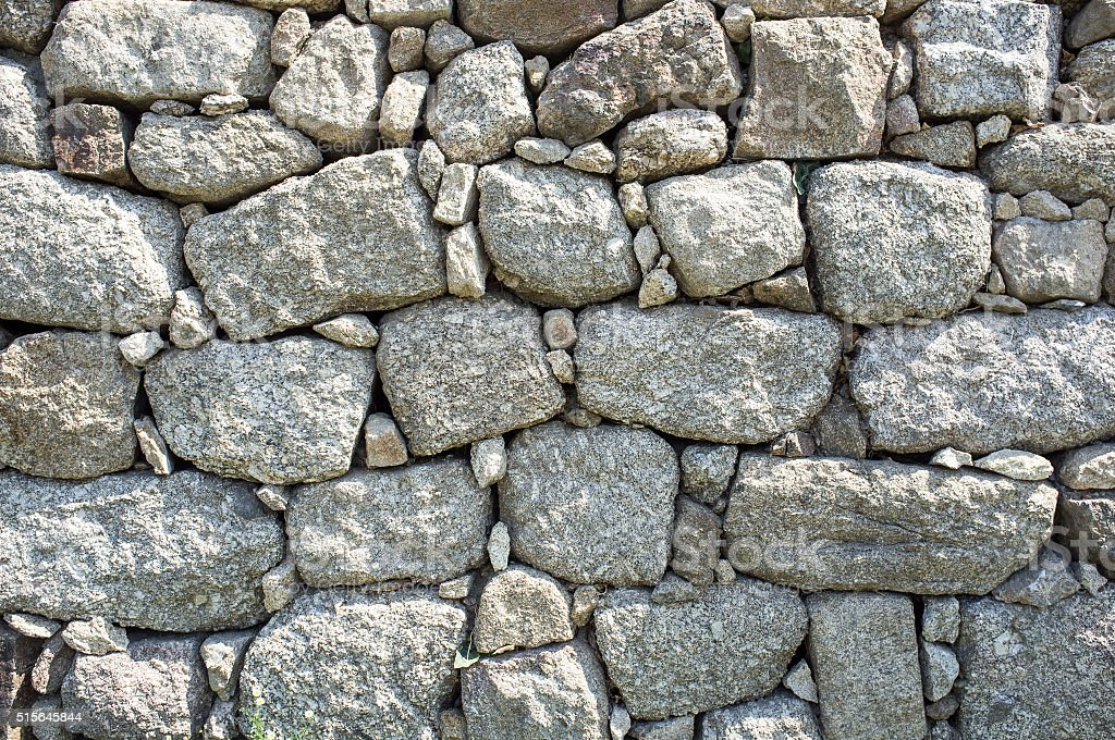 wall in the local  stones stock photo