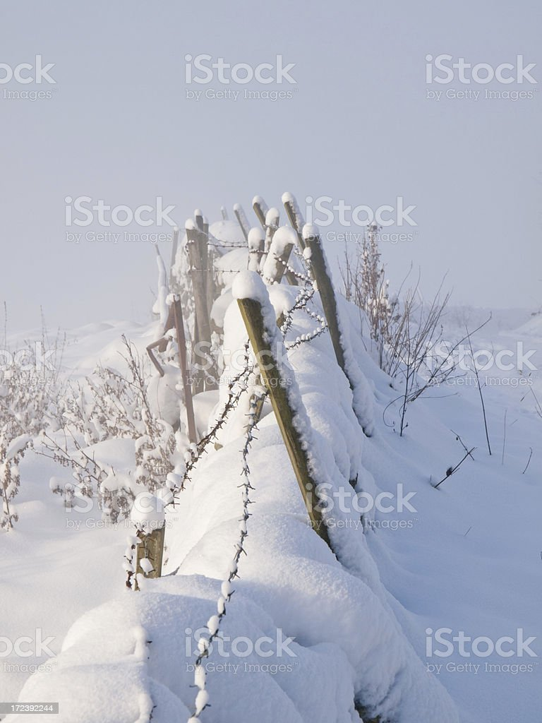 Wall in winter royalty-free stock photo
