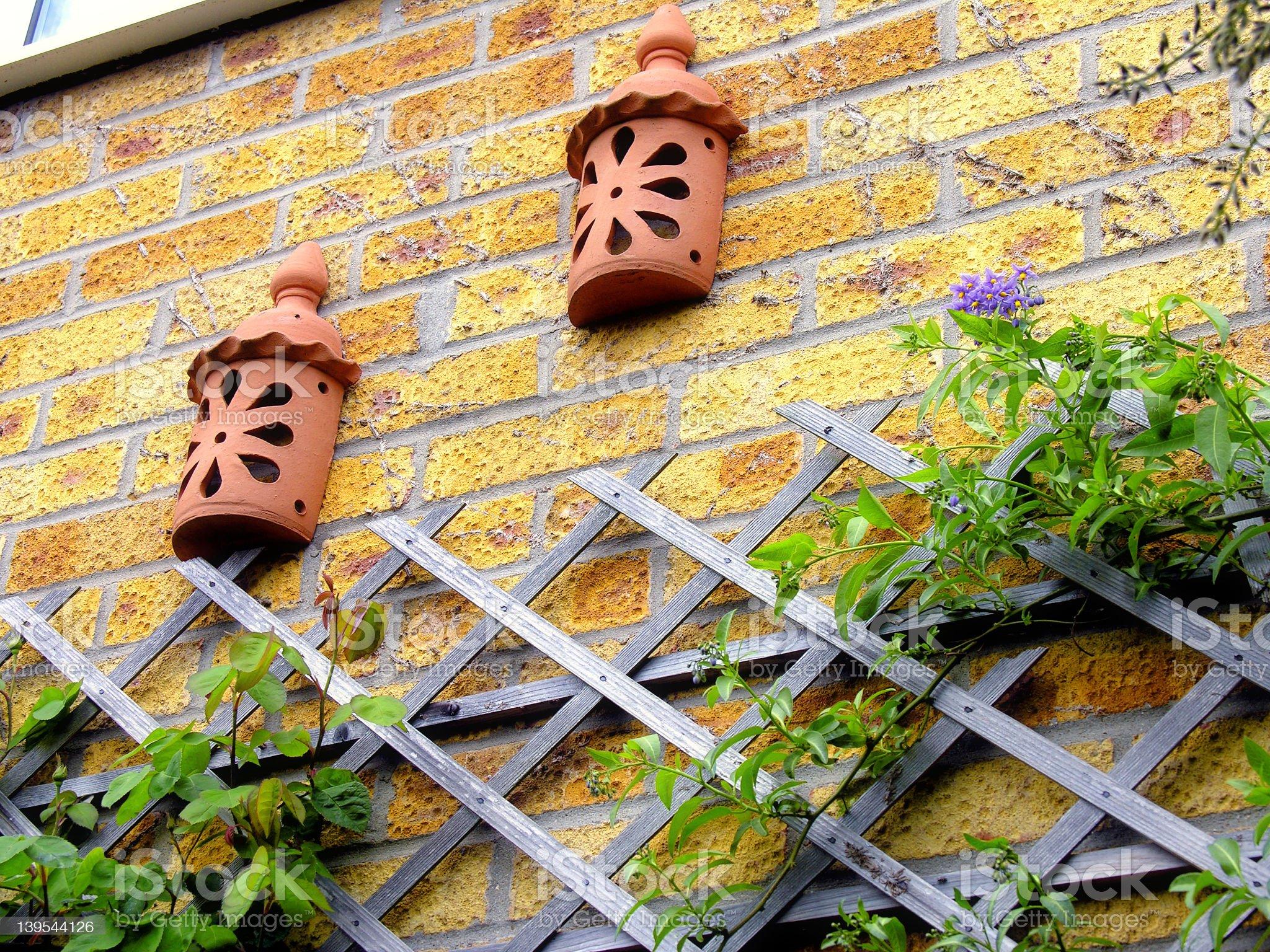 Wall Lanterns royalty-free stock photo