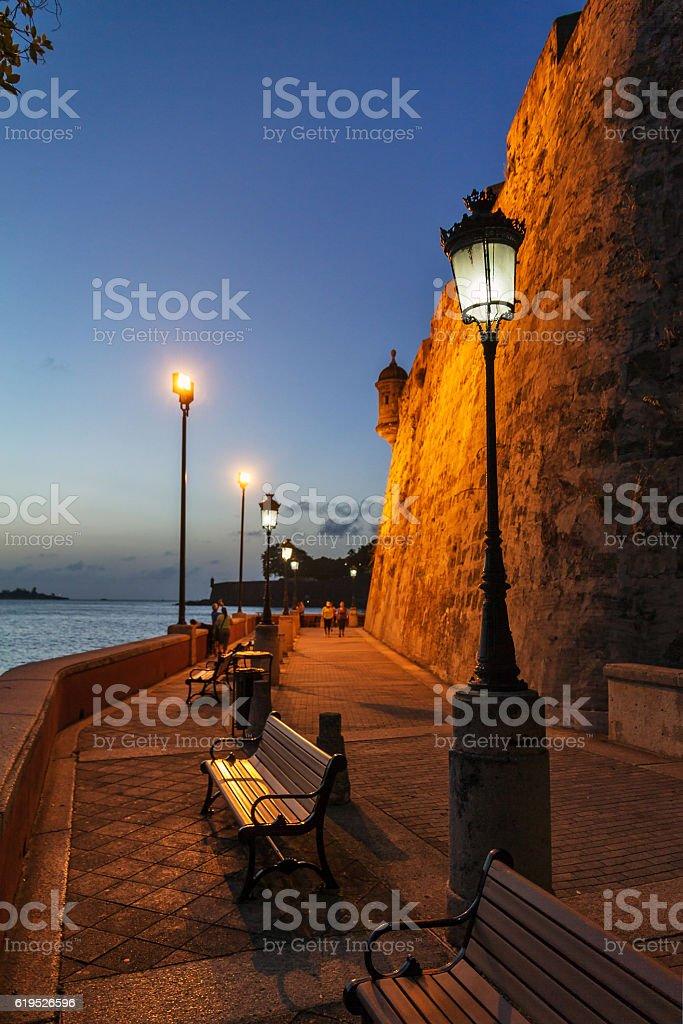 Wall lanterns San Juan stock photo