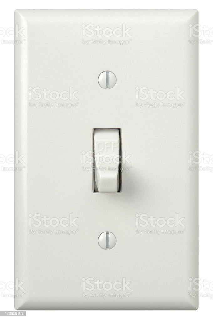 Wall Light Switch with Path stock photo