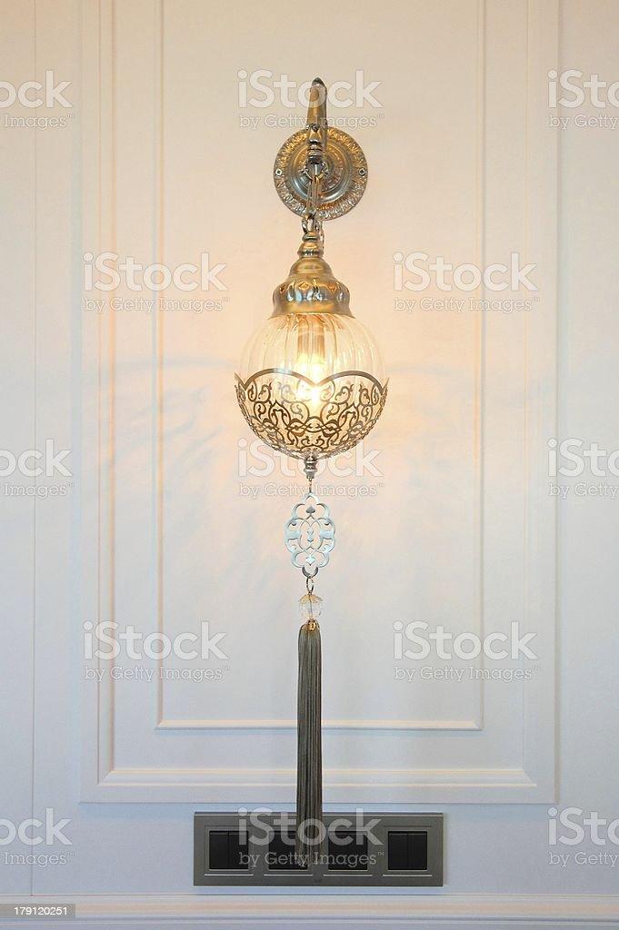 Wall lighting accessory royalty-free stock photo