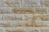 Wall made of sand stones
