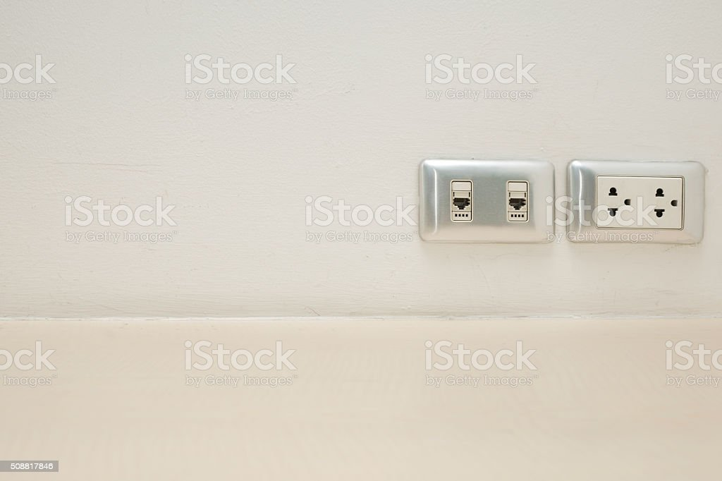 Wall mount outlet stock photo
