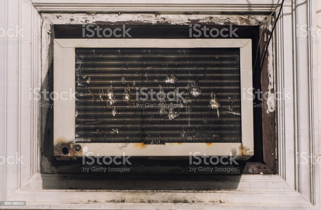 Wall mounted air conditioner stock photo