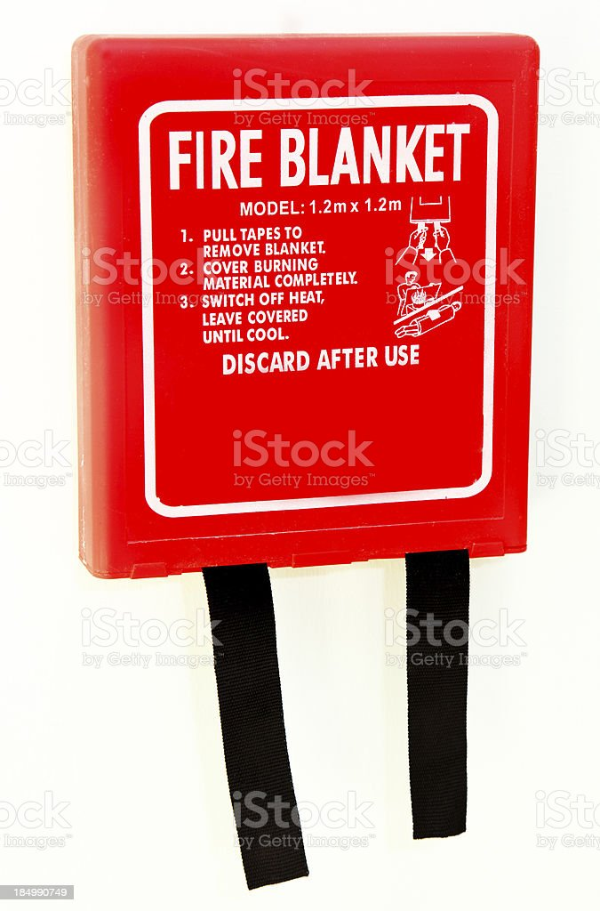 wall mounted fire blanket royalty-free stock photo