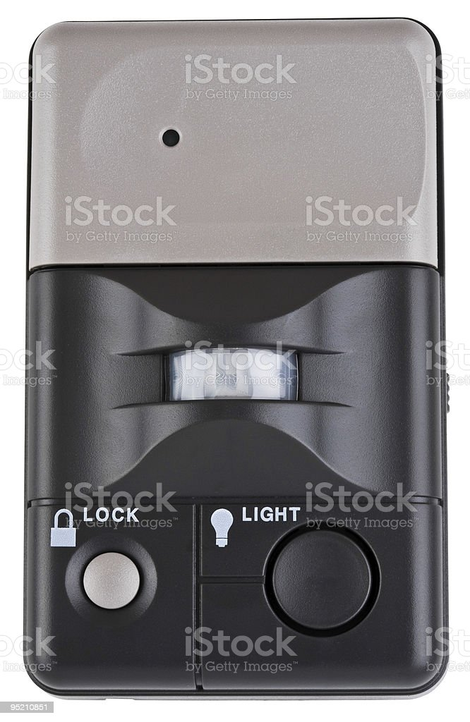 Wall Mounted Garage Door Opener stock photo