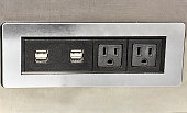 Wall Mounted USB Plugs with Electrical Outlets