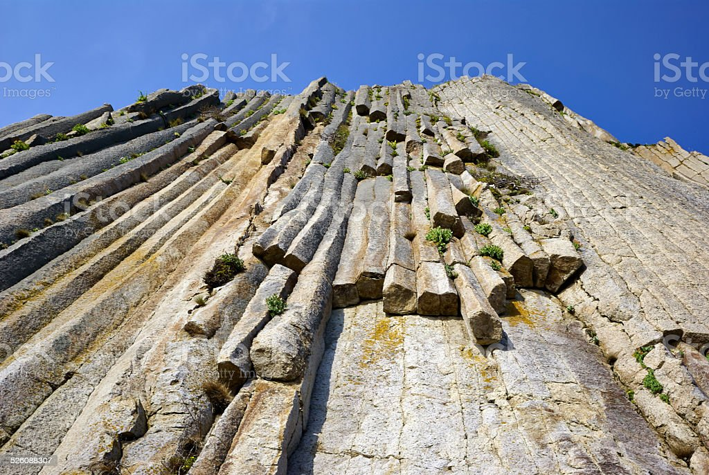 Wall natural stone stock photo