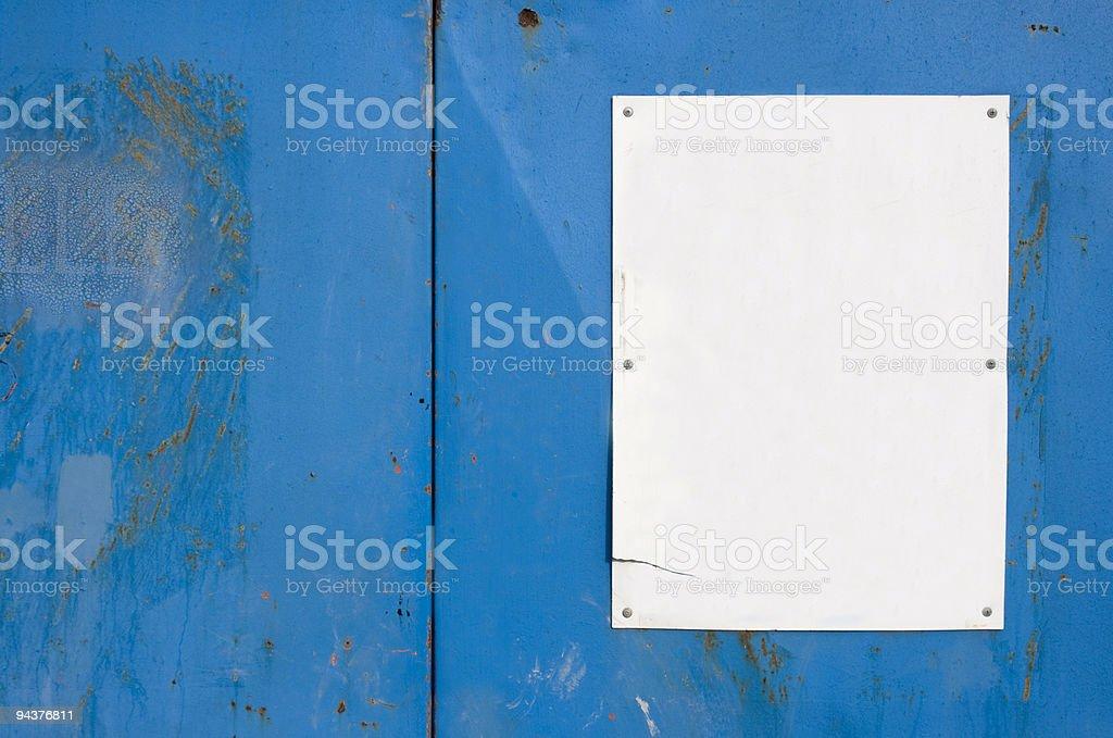 Wall notice stock photo