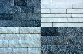 wall of an old decorative bricks sample