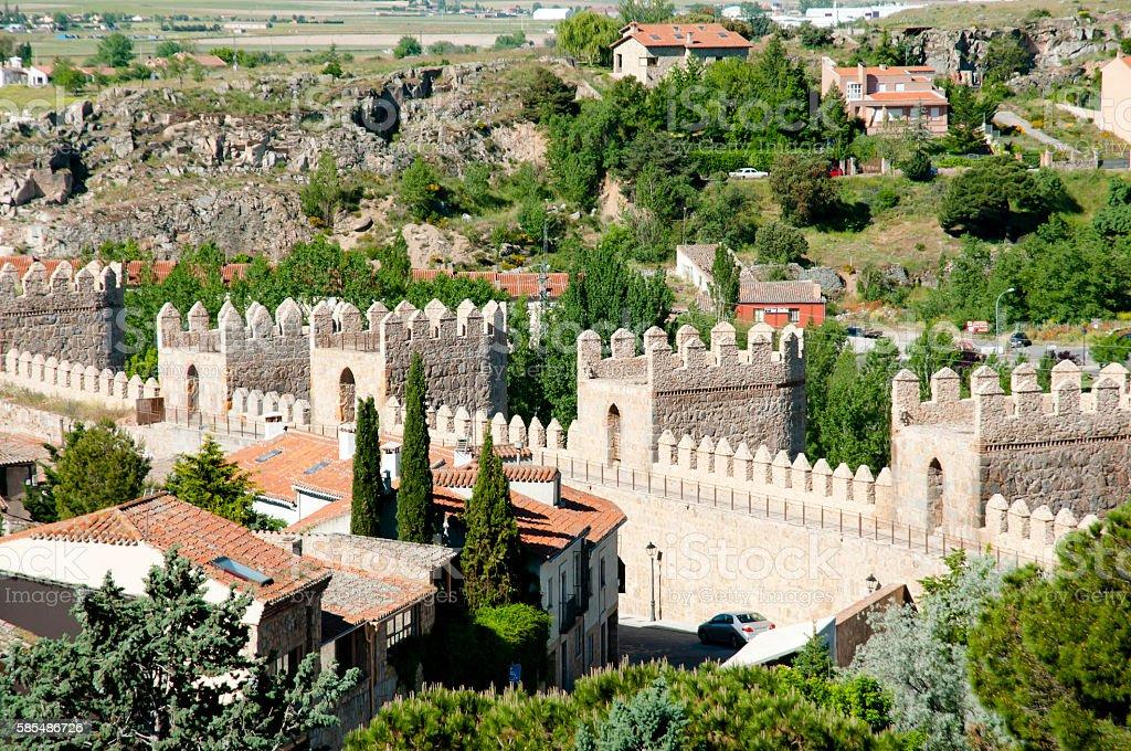 Wall of Avila - Spain stock photo