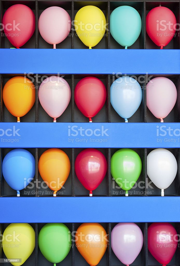 Wall of Balloons royalty-free stock photo