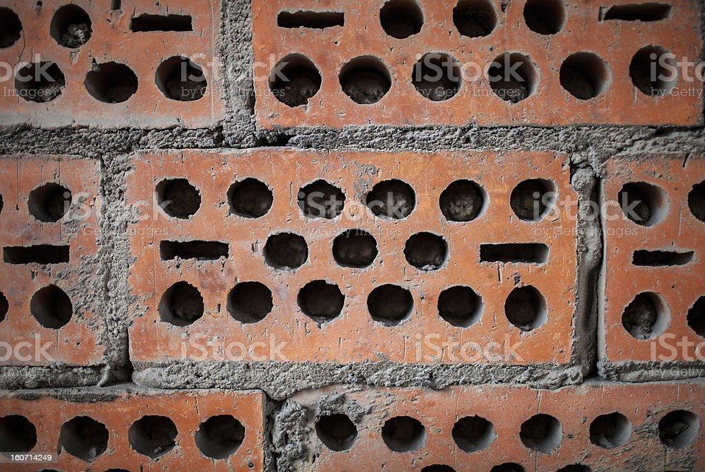 wall of bricks royalty-free stock photo