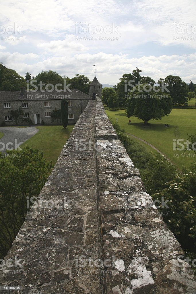 Wall of Castle Cahir royalty-free stock photo